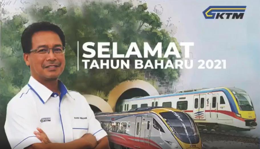 Ucapan tahun baharu 2021 oleh Ketua Pegawai Eksekutif KTMB